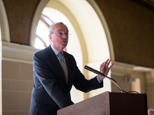 Gov. Phil Murphy delivers remarks on Thursday, February 8th, 2018, in Trenton at the New Jersey Conference of Mayors.