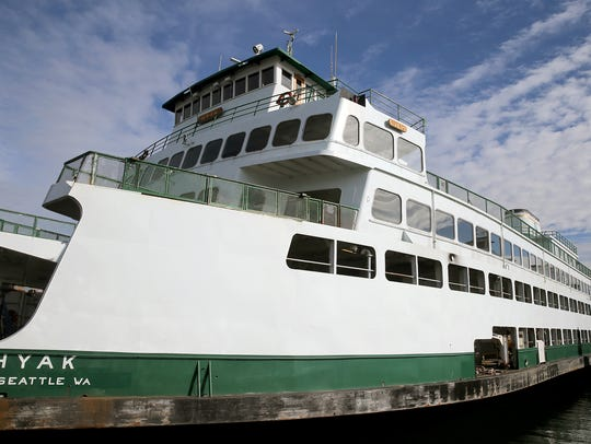 The Hyak at WSF's Eagle Harbor facility in 2018.
