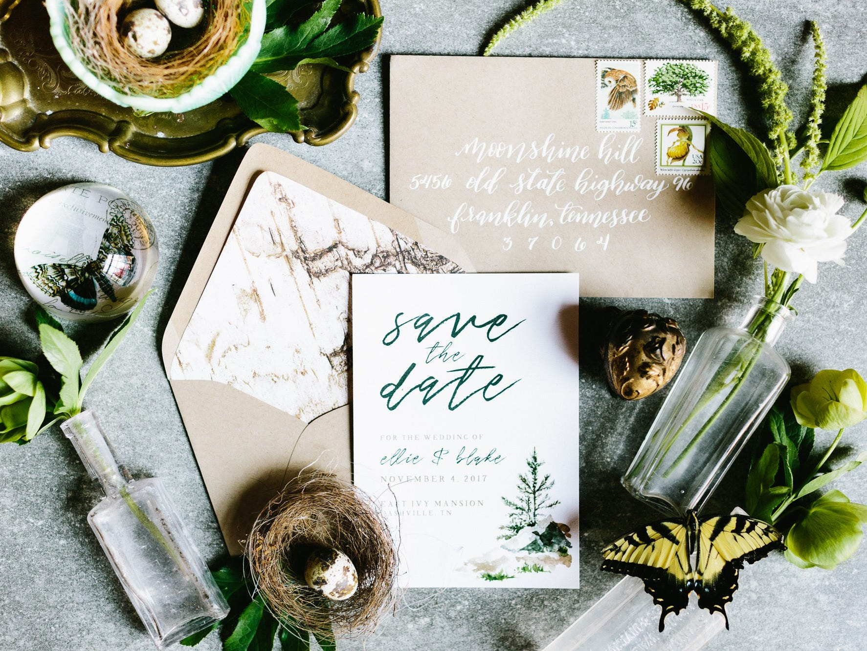 Order beautiful, hand-lettered envelopes, art, and decorations from White Ink Calligraphy.