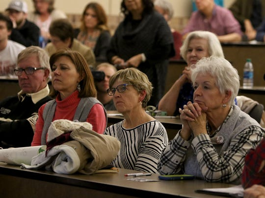 Wichitans listen as Rep. Beto O'Rouke speaks Friday,