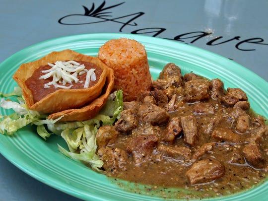 Carne Verde served at Agave Grill.
