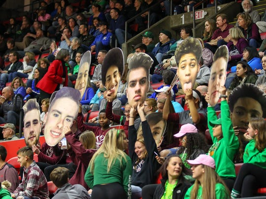 Ben Nelson was the catalyst behind bringing the state boys basketball tournament to Binghamton. Here, a look at a lively Floyd L. Maines Veterans Memorial Arena during competition.
