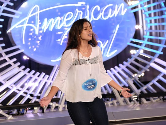 "Contestant Alyssa Raghu auditions on ""American Idol."""