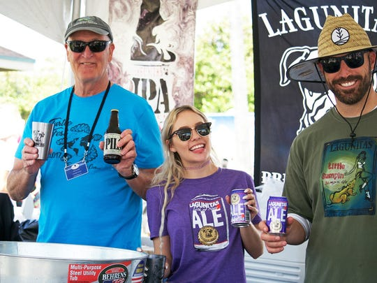 Lagunitas is coming back as the TurtleFest beer sponsor, with plenty of ale to go around. If you don't like beer, there are plenty of other options, including creative concoctions by Naked Turtle Rum! Pictured is some fun from last year's TurtleFest.