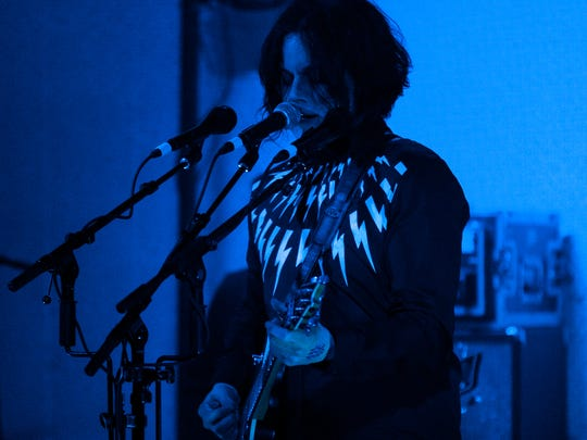 Jack White performs at Third Man Records in Nashville,