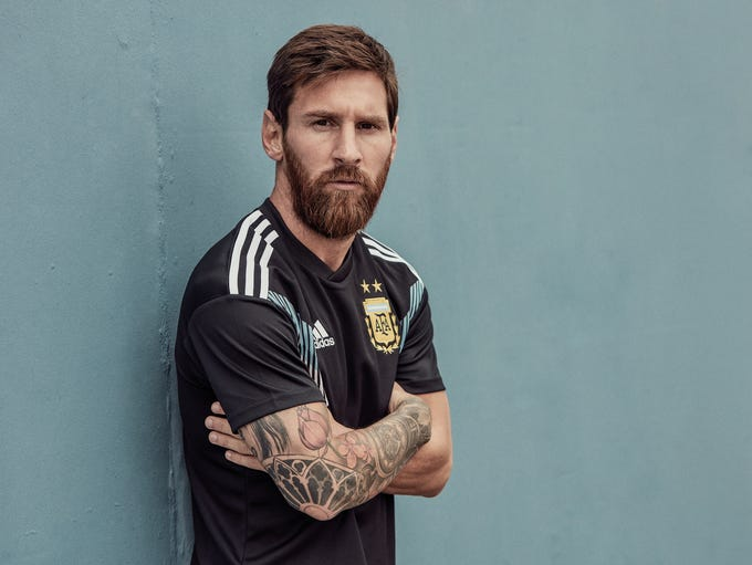 Adidas released World Cup jerseys for Argentina and