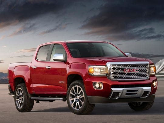 This undated photo provided by GMC shows the 2018 GMC
