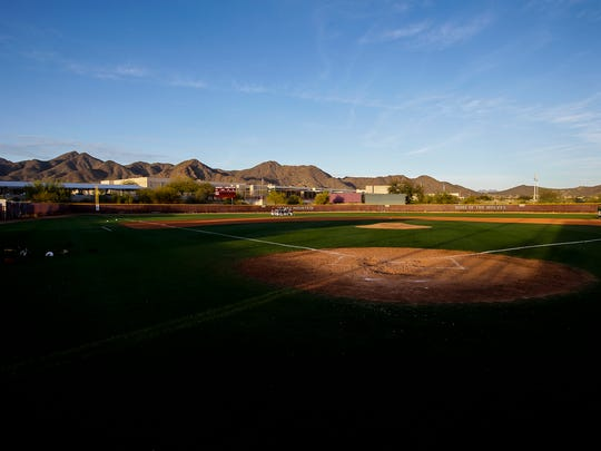 The field at Scottsdale Desert Mountain High School.