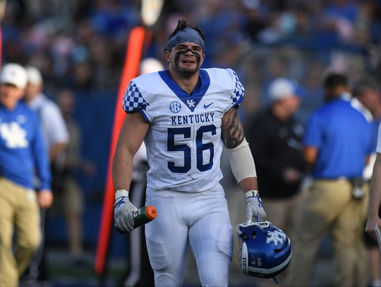 UK LB Kash Daniel during the University of Kentucky