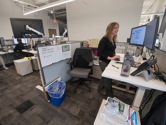 Nicole Kessler, of Springfield Township, works at a