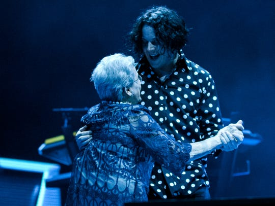 Jack White and his band perform April 19, 2018, at