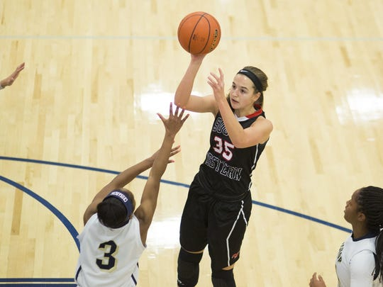 South Western's Taylor Geiman led the team in scoring,