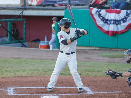 As of Monday, Visalia Rawhide catcher Daulton Varsho is third on the team with a .275 batting average and is tied for first with 11 RBIs.