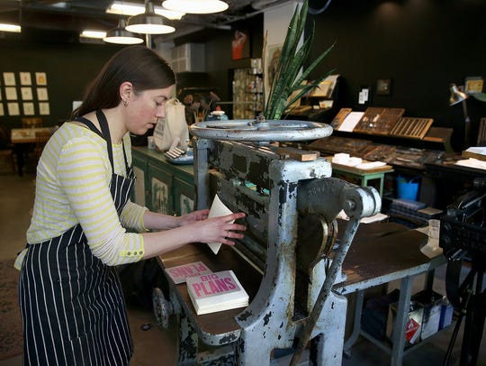 Marit Bockelie's Bremerton Letterpress Co. is an anchor of sorts for the downtown arts scene.