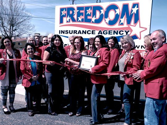 A ribbon cutting took place in April at Freedom Insurance,