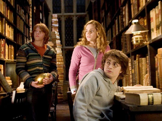 """Rupert Grint, Emma Watson and Daniel Radcliffe pictured in """"Harry Potter and the Goblet of Fire."""""""