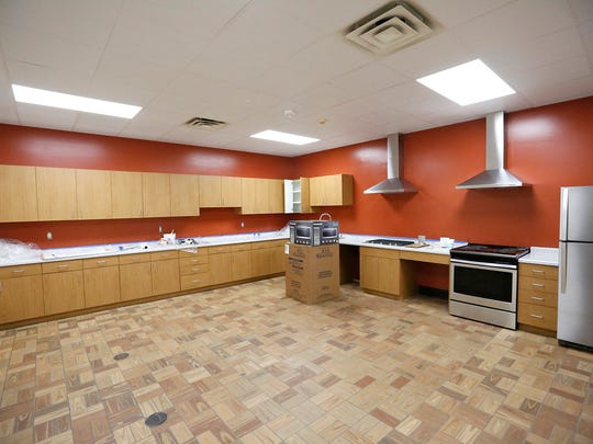 A kitchen area nears completion Thursday, April 26, 2018 at the new Fondy Food Pantry. Doug Raflik/USA TODAY NETWORK-Wisconsin