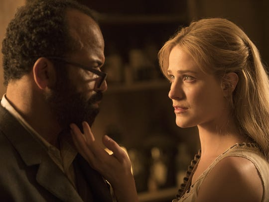 "Bernard (Jeffrey Wright) crosses paths with Dolores (Evan Rachel Wood) in Season 2 of ""Westworld,"" but this time he's not in control."
