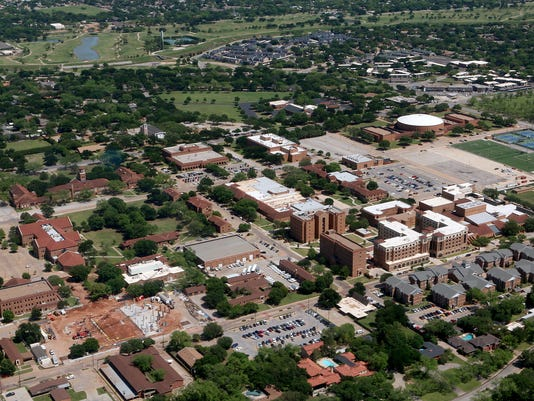 Aerial view of Midwestern State University