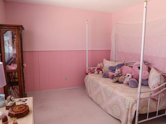 One of the bedrooms at Daniel Panico's and Mona Kirk's new home in Joshua Tree, May 10, 2018.