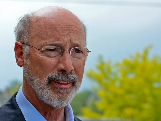 Governor Tom Wolf voted at Eagle Fire Company No. 1