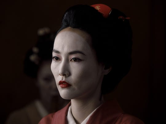 "A geisha (Rinko Kinkuchi) in Shogun World on ""Westworld."""