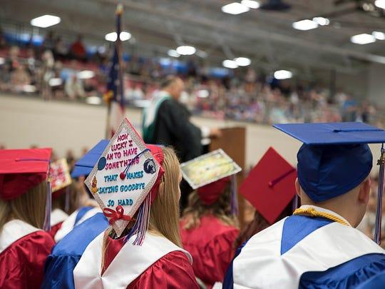 Zane Trace High School held their graduation ceremony Saturday, May 19, 2018, at Zane Trace High School.