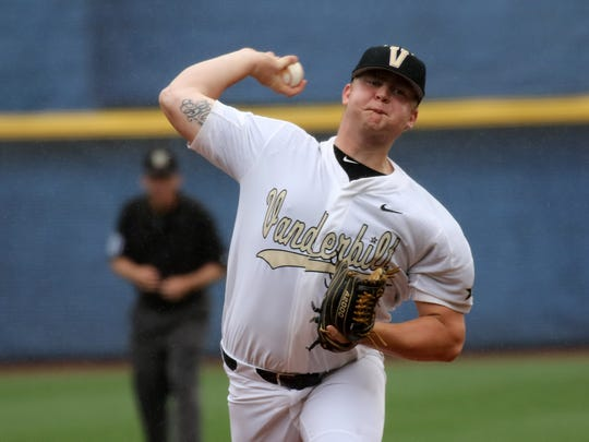 Vanderbilt pitcher Tyler Brown