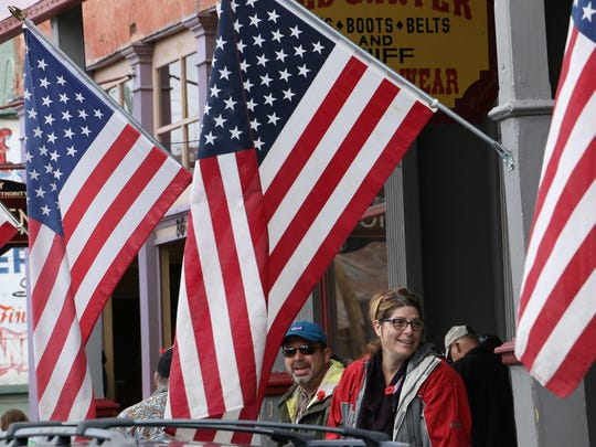 The Celebration of Heroes Parade during Memorial Day weekend in Virginia City on May 26, 2018.
