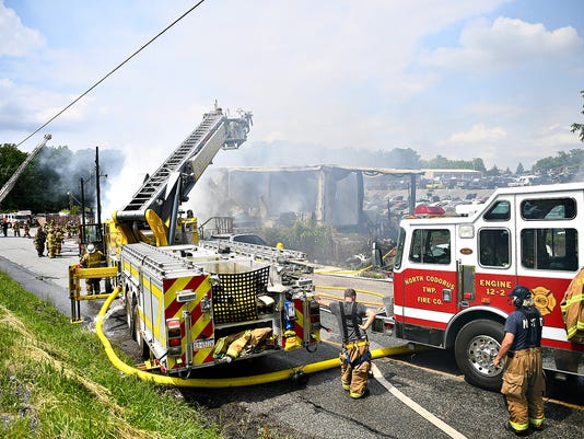 Eichelberger's Auto Salvage fire