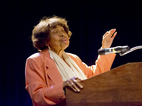 Civil-rights leader Dorothy Cotton challenged Wegmans employees in November, 2014, to think about what they are going to do with their time. The Ithaca resident worked with and was a close friend of  Martin Luther King Jr.