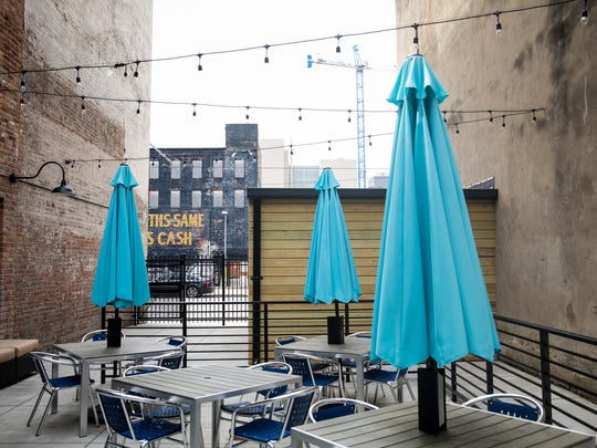 Aladdin's Eatery franchise opened on Main Street in Over-the-Rhine May 25, 2018. This location has a full liquor license, a 1,000-square foot outdoor patio for outdoor dining and an area for lounging.