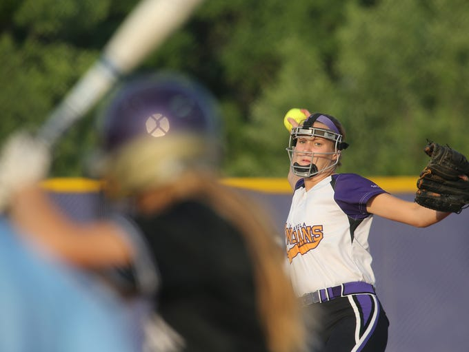 Indianola senior Sydney Sickles pitches against Norwalk.