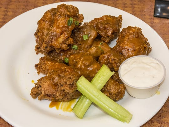 Jack Be Nimble Wings, made with mustard BBQ and Jack