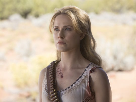 "Dolores (Evan Rachel Wood) on ""Westworld."""
