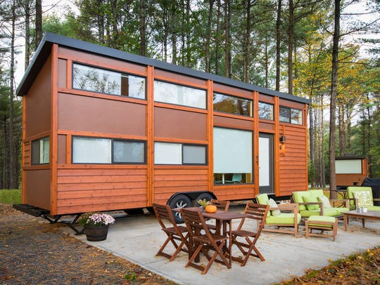 A tiny house resort in the Catstkills includes nine