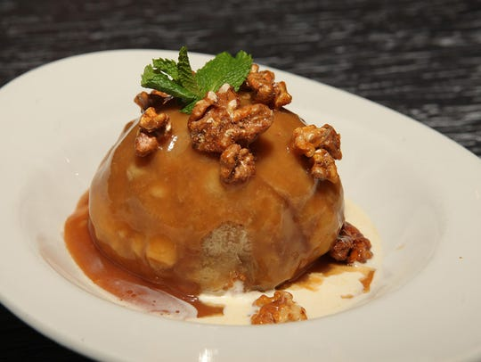 "The ""Ridiculous"" dessert: vanilla ice cream, ginger-carrot"