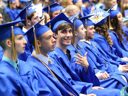 The Maine-Endwell High School graduation was held,