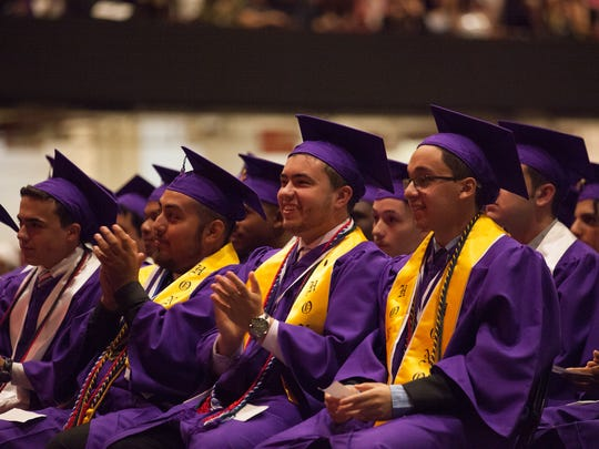 Lincoln High School graduates celebrate their commencement