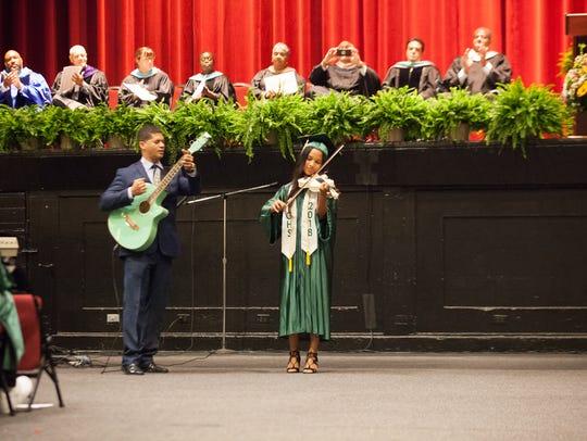 Gorton High School graduates celebrate their commencement
