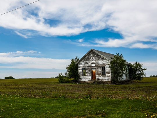 The now-closed Round Prairie School near Brandon, which
