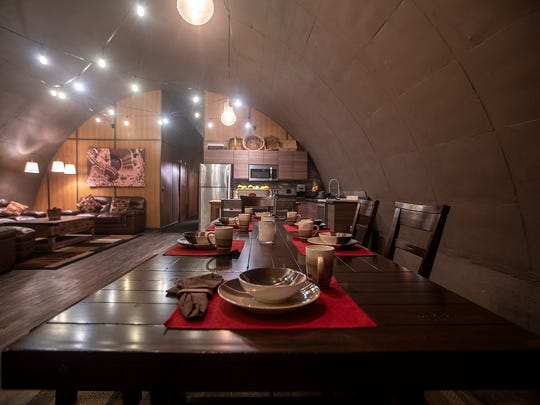 A 2,200-square-foot showroom bunker was outfitted into