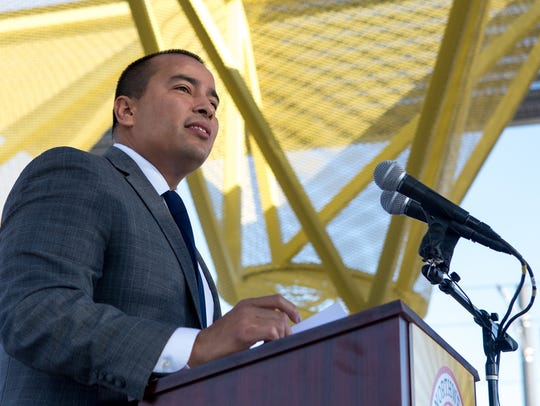 Phoenix Councilman Daniel Valenzuela speaks March 19,