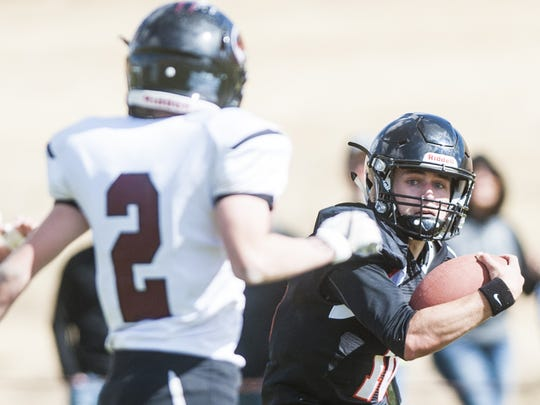 Centerville's Carson McGinness is a four-year starter for the Miners at quarterback.