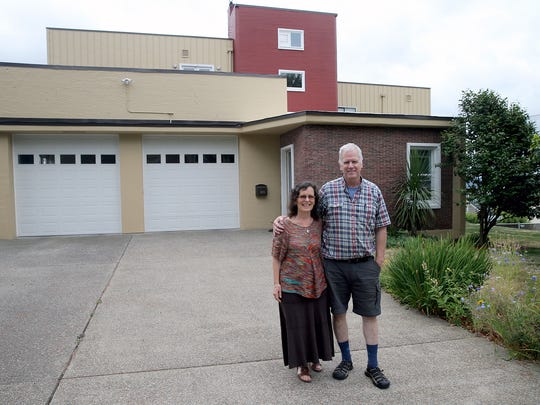 Glenn and Lori Stockton's home is a former fire station on Ironsides Avenue in Bremerton.