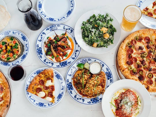 A sampling of the offerings at Central Pizza & Bar.