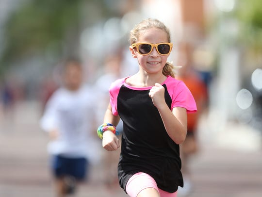 The Edison Festival of Light Junior Fun Run in downtown Fort Myers in February 2018.
