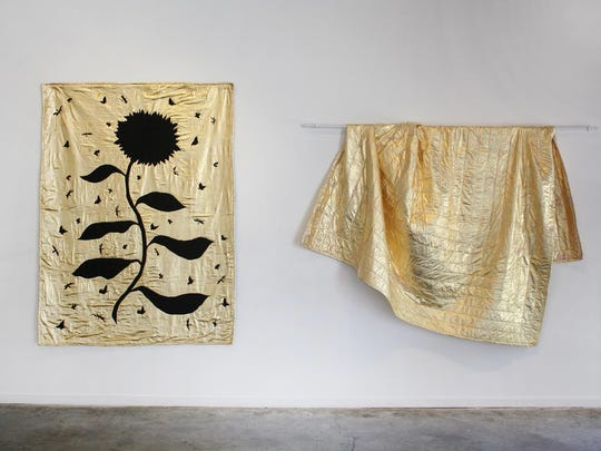 """Molly Barnes, """"The Smell of Honeysuckle,"""" installation view."""