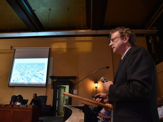 Paterson City Council meeting; presentation from developer Charles Florio