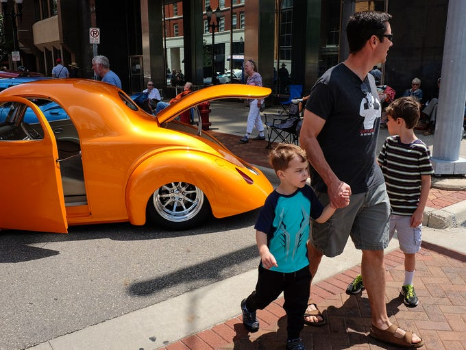Lots of families turn out to see the Car Capital Auto